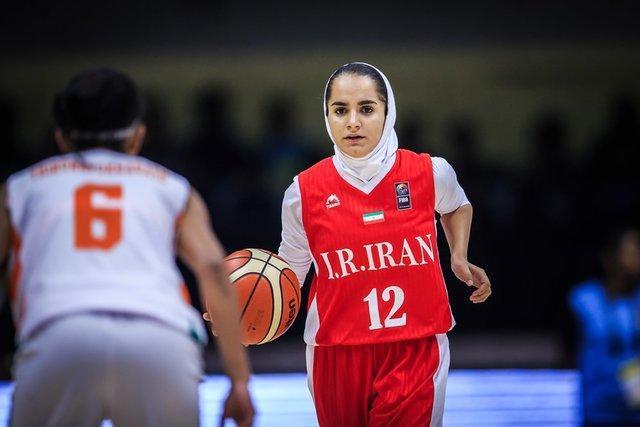 آمار دختران بسکتبالیست ایران برابر قزاقستان